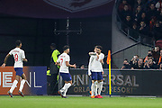 England midfielder Jesse Lingard celebrates his goal 0-1 during the Friendly match between Netherlands and England at the Amsterdam Arena, Amsterdam, Netherlands on 23 March 2018. Picture by Phil Duncan.