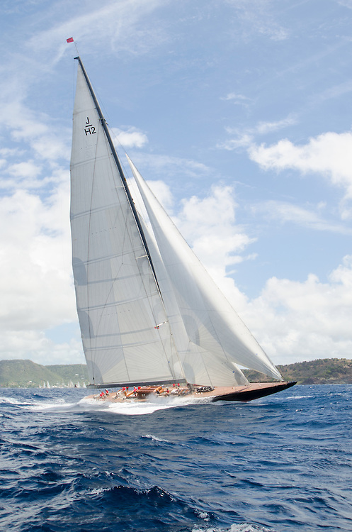 J H2.<br /> <br /> Back in the 60s, classic yachts, which were gathered in English Harbour Antigua, had begun chartering and the captains and crews challenged each other to a race down to Guadeloupe and back to celebrate the end of the charter season. From this informal race, Antigua Race Week was formalised in 1967, and in those days all of the yachts were classics. As the years grew on, the classic yachts were slowly outnumbered but the faster sleeker modern racing yachts and 24 years later the Classic Class had diminished to a few boats and was abandoned in 1987. However this same year seven classic yachts turned out and were placed in Cruising Class 3 with the bare boats. The class was so unmatched that it was downright dangerous, so Captain Uli Pruesse hosted a meeting onboard Aschanti of Saba with several classic skippers and in 1988 the Antigua Classic Yacht Regatta was born, with seven boats.<br /> <br /> In 1991, Elizabeth Meyer brought her newly refitted Endeavour and Baron Edmond Rothschild brought his 6-meter Spirit of St Kitts and &ldquo;CSR&rdquo; became the first Sponsor and inaugurated the Concours d&rsquo;El&eacute;gance. In 1996 we created the &ldquo;Spirit of Tradition Class&rdquo;, which has now been accepted all over the world, which gives the &ldquo;new&rdquo; classics, built along the lines of the old, a chance to sail alongside their sister ships. In 1999 we celebrated the first race between the J class yachts in 60 years. Mount Gay Rum has sponsored the Regatta for many years, and we have recently added Officine Panerai as our first ever Platinum Sponsor.<br /> <br /> The Antigua Classic Yacht Regatta has maintained a steady growth, hosting between 50 and 60 yachts every year and enjoys a wonderful variety of competitors, including traditional craft from the islands, classic ketches, sloops, schooners and yawls making the bulk of the fleet, together with the stunningly beautiful Spirit of Tradition yachts, J Class yachts and Tall Ships.