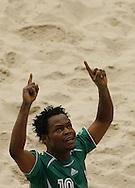 Football-FIFA Beach Soccer World Cup 2006 - Group D-Argentina - Nigeria, Beachsoccer World Cup 2006. Nigeria`s Onigbo - Rio de Janeiro - Brazil 02/11/2006<br /> Mandatory credit: FIFA/ Manuel Queimadelos
