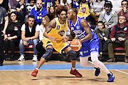 M'Baye Amath Washington Deron<br /> FIAT Torino - ENEL Basket Brindisi<br /> Lega Basket Serie A 2016-2017<br /> Torino 26/02/2017<br /> Foto Ciamillo-Castoria/Matta