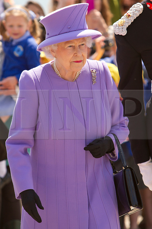 © Licensed to London News Pictures. 17/05/2013. Marazion, UK. Queen Elizabeth II visits St Michael's Mount. Photo credit : Ashley Hugo/LNP