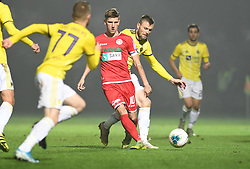 Matic Vrbanec of Aluminij and Alexandru Cretu of Maribor during football match between NK Aluminij and NK Maribor in 18th Round of Prva liga Telekom Slovenije 2019/20, on November 24, 2019 in Sportni park Aluminij, Kidricevo Slovenia. Photo by Milos Vujinovic / Sportida