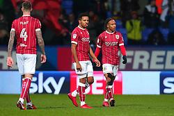 Bobby Reid and Korey Smith of Bristol City cut frustrated figures - Mandatory by-line: Robbie Stephenson/JMP - 02/02/2018 - FOOTBALL - Macron Stadium - Bolton, England - Bolton Wanderers v Bristol City - Sky Bet Championship