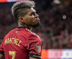 December 8, 2018 - Atlanta, Georgia, United States - Atlanta United forward JOSEF MARTINEZ (7) celebrates his goal with a stare in to the crowd during the MLS Cup at Mercedes-Benz Stadium in Atlanta, Georgia.  Atlanta United defeats Portland Timbers 2-0 (Credit Image: © Mark Smith/ZUMA Wire)