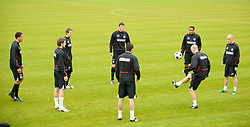 CARDIFF, WALES - Monday, October 13, 2008: Wales' players during training at the Vale of Glamorgan Hotel ahead of the 2010 FIFA World Cup South Africa Qualifying Group 4 match against Germany. (Photo by David Rawcliffe/Propaganda)