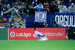 November 23, 2018 - Leganes, MADRID, SPAIN - Youssef En-Nesyri of Leganes celebrates the goal during the Spanish Championship La Liga football match between CD Leganes and Deportivo Alaves on November 23th, 2018 at Estadio de Butarque in Leganes, Madrid, Spain. (Credit Image: © AFP7 via ZUMA Wire)