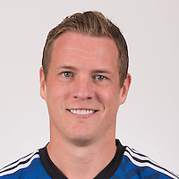 Feb 16, 2015; San Jose Earthquakes player Ty Harden poses for a photo.