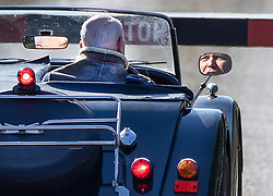 © Licensed to London News Pictures. 24/03/2019. Chequers , UK. Iain Duncan Smith is reflected in the wing mirror of his Morgan Sports car as he arrives at Chequers for a meeting with the Prime Minister. There have been reports of a cabinet revolt against Prime Minister Theresa May, over her handing of the Brexit negotiations. Photo credit: Peter Macdiarmid/LNP