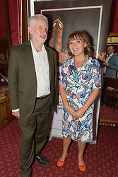 © Licensed to London News Pictures. 18/07/2017. LONDON, UK.  JEREMY CORBYN and LORRAINE KELLY at a Pink News parliamentary reception to celebrate the 50th anniversary of decriminalisation on homosexuality, held at Speaker's House in the Palace of Westminster in London.  Photo credit: Vickie Flores/LNP