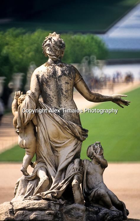 Sculpture in the gardens of versaille, near Paris. France