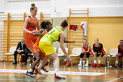Andjela Delic of ZKK Cinkarna Celje in action during basketball match between ZKK Cinkarna Celje (SLO) and MBK Ruzomberok (SVK) in Round #6 of Women EuroCup 2018/19, on December 13, 2018 in Gimnazija Celje Center, Celje, Slovenia. Photo by Urban Urbanc / Sportida