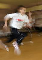Photo: Rich Eaton.<br /> <br /> SPAR Sprint Masterclass in Birmingham. 18/01/2007. Martyn Rooney gives a Spar Masterclass in Birmingham