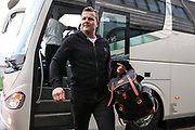 Forest Green Rovers manager, Mark Cooper arrives at the ground during the EFL Sky Bet League 2 match between Yeovil Town and Forest Green Rovers at Huish Park, Yeovil, England on 8 December 2018.