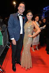 CRAIG REVEL HORWOOD and VANESSA MAE at Battersea Dogs & Cats Home's Collars & Coats Gala Ball held at Battersea Evolution, Battersea Park, London on30th October 2014.