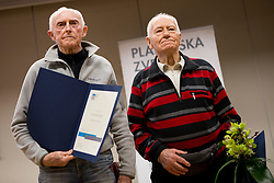 France Zupan and Rado Kocevar at the Alpine Association of Slovenia award ceremony for the most successful in alpinism, sports and ice climbing and turning skiing in 2017, on January 31, 2018 in Gospodarsko raztavisce, Ljubljana, Slovenia. Photo by Urban Urbanc / Sportida
