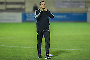 Forest Green Rovers manager, Mark Cooper during the Vanarama National League match between Solihull Moors and Forest Green Rovers at the Automated Technology Group Stadium, Solihull, United Kingdom on 25 October 2016. Photo by Shane Healey.