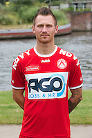 Kortrijk's Teddy Chevalier poses for the photographer during the 2014-2015 season photo shoot of Belgian first league soccer team KV Kortrijk, Tuesday 08 July 2014 in Kortrijk.