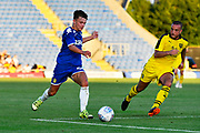 Jamie Shackleton (54) of Leeds United on the attack during the Pre-Season Friendly match between Oxford United and Leeds United at the Kassam Stadium, Oxford, England on 24 July 2018. Picture by Graham Hunt.