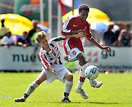 30-08-2008 VOETBAL:AUDAX JEUGDTOERNOOI 2008:TILBURG<br /> Dylan den Exter in duel met Arsenal speler<br /> Foto: Geert van Erven