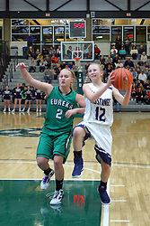 21 January 2017: IHSA Girls Basketball game during the McLean County Tournament at Shirk Center in Bloomington Illinois - Eureka Hornets v Ridgeview Mustangs