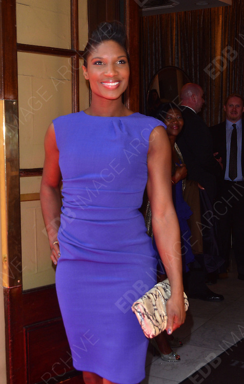 11.MARCH.2012. LONDON<br /> <br /> DENISE LEWIS AT THE TESCO MUM OF THE YEAR 2012 AT THE WALDORF HILTON HOTEL IN ALDWYCH, LONDON<br /> <br /> BYLINE: EDBIMAGEARCHIVE.COM<br /> <br /> *THIS IMAGE IS STRICTLY FOR UK NEWSPAPERS AND MAGAZINES ONLY*<br /> *FOR WORLD WIDE SALES AND WEB USE PLEASE CONTACT EDBIMAGEARCHIVE - 0208 954 5968*