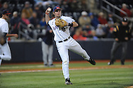 Ole Miss' Austin Anderson (8) vs. Auburn at Oxford-University Stadium in Oxford, Miss. on Friday, April 4, 2014. Mississippi won 8-5.