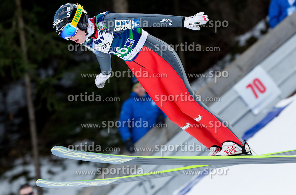 Jacqueline Seifriedsberger (AUT) during Trial Round at Day 1 of World Cup Ski Jumping Ladies Ljubno 2015, on February 14, 2015 in Ljubno, Slovenia. Photo by Vid Ponikvar / Sportida
