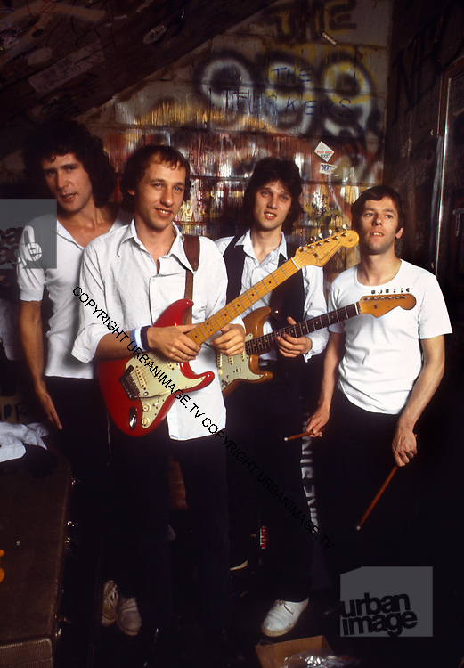 Dire Straits backstage at The Marquee Club