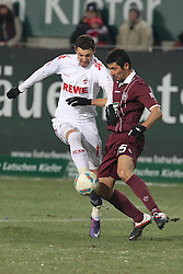 05.02.2012, Fritz Walter Stadium, Kaiserslautern, GER, 1. FBL, 1.FC Kaiserslautern vs 1.FC Koeln, 20. Spieltag, im Bild Milivoje NOVAKOVIC (1.FC Koeln) im Zweikampf mit Anthar YAHIA (1.FC Kaiserslautern), Aktion/ Action // during the German Bundesliga Match between 1.FC Kaiserslautern vs 1.FC Koeln at the Fritz Walter Stadium in Kaiserslautern, Germany, 2012/02/05. EXPA Pictures © 2012, PhotoCredit: EXPA/ Eibner/ Alexander Neis..***** ATTENTION - OUT OF GER *****