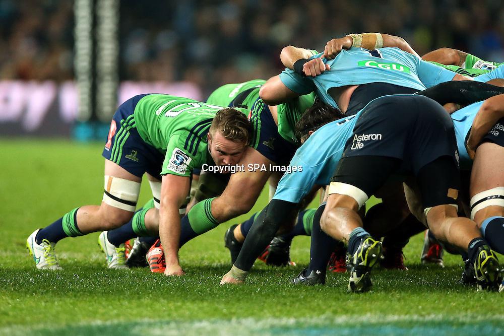 Gareth Evans, NSW Waratahs v Otago Highlanders Semi Final. Sport Rugby Union Super Rugby Domestic Provincial. Allianz Stadium SFS. 27 June 2015. Photo by Paul Seiser/SPA Images