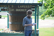 "Director Bryan Reisberg at the filming of ""Big Significant Things"" at the Cedar Bucket near Oxford, Miss. on Thursday, May 9, 2013."