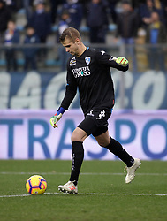 03.02.2019, Stadio Carlo Castellani, Empoli, ITA, Serie A, Empoli FC vs Chievo Verona, 22. Runde, im Bild il portiere dell' Empoli Ivan Provedel // Empoli Goalkeeper Ivan Provedel during the Seria A 22th round match between Empoli FC and Chievo Verona at the Stadio Carlo Castellani in Empoli, Italy on 2019/02/03. EXPA Pictures &copy; 2019, PhotoCredit: EXPA/ laPresse/ Marco Bucco<br /> <br /> *****ATTENTION - for AUT, SUI, CRO, SLO only*****