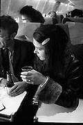 Dana Arrives after Eurovision Success.23/03/1970 greetings at dublin airport, air france,