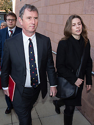 Nigel Evans arrives at Preston Crown Court this morning for the first day of his trial,  Preston , United Kingdom, Monday, 10th March 2014.  Preston, UK. Picture by Joel Goodman/i-Images