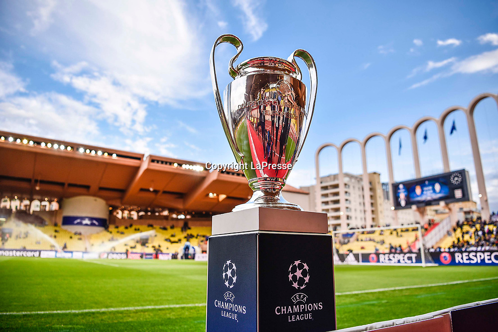 Photo LaPresse - Daniele Badolato<br /> 03 May 2017 Montecarlo ( Monaco )<br /> Sport Soccer<br /> Monaco - Juventus<br /> Champions League 2016 2017 - Semifinals first leg <br /> In the pic: the trophy