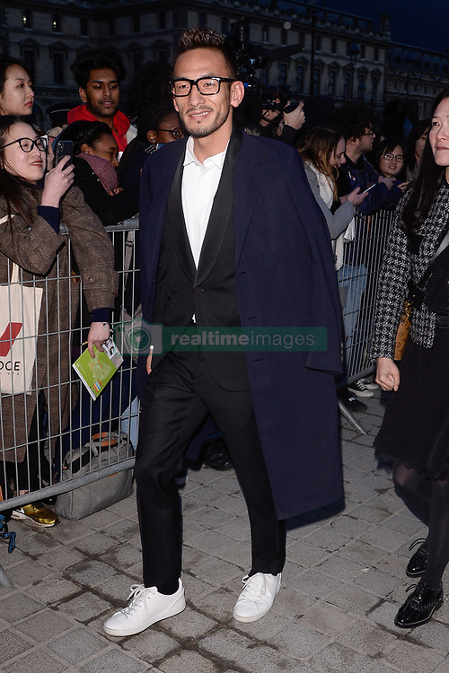 Hidetoshi Nakata arriving at the Louis Vuitton show as part of the Paris Fashion Week Womenswear Fall/Winter 2018/2019 in Paris, France on March 6, 2018. Photo by Julien Reynaud/APS-Medias/ABACAPRESS.COM