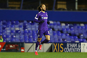 Portsmouth midfielder Marcus Harness in action during the EFL Sky Bet League 1 match between Coventry City and Portsmouth at the Trillion Trophy Stadium, Birmingham, England on 11 February 2020.