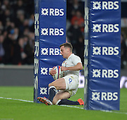 Twickenham, Great Britain, George FORD, during the Six Nations Rugby England vs France, played at the RFU Stadium, Twickenham, ENGLAND. <br />