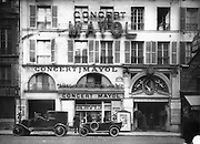 Cabaret hall Concert Mayol on the  Rue de l'Echiquier, 10th arrondissement, Paris, France, photograph, 1925. Owned by Felix Mayol, this cafe-concert hall was famous for launching the careers of young artists in plays, musical performances, operettas and latterly stripteases, until its final closure in 1976. Copyright © Collection Particuliere Tropmi / Manuel Cohen