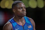 Christian Coleman (USA), start of the Men's 4 x 400 Metres during the 2019 IAAF World Athletics Championships at Khalifa International Stadium, Doha, Qatar on 5 October 2019.