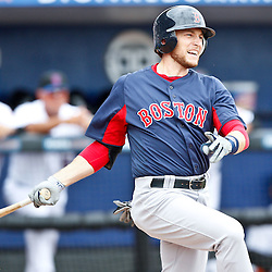 March 6, 2011; Port St. Lucie, FL, USA; Boston Red Sox second baseman Jed Lowrie (12) during a spring training exhibition game against the New York Mets at Digital Domain Park. The Mets defeated the Red Sox 6-5.  Mandatory Credit: Derick E. Hingle