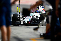 MASSA felipe (bra) williams f1 mercedes fw37 action pitlane during 2015 Formula 1 FIA world championship, Bahrain Grand Prix, at Sakhir from April 16 to 19th. Photo Florent Gooden / DPPI