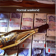 From private jets and boarding schools to $18K Rolex receipts: Take a peek into the lives of the Rich Kids of Snapchat<br /> <br /> First there were the Rich Kids of Instagram, and now the privileged youth have taken their shameless oversharing to another popular app - Snapchat.<br /> Launched by a 17-year-old boy from the UK, Rich Kids of Snapchat is a Facebook page offering a glimpse into the luxurious lifestyles of a group of teens and 20-somethings.<br /> The pictures on the site are of sports cars, private jets, luxury goods and lavish homes, all with captions revealing the kids' nonchalant attitude to money.<br /> <br /> <br /> The page was started by an anonymous teen who, according to his spokesperson, began trading equities and commodities at the age of 12, and now is enormously wealthy.<br /> He invites people to add him on Snapchat so that he can send them pictures from his own lavish lifestyle, and he also accepts snaps from the equally rich, which then go on his Facebook and Instagram pages.<br /> <br /> <br /> To get their pictures online, people send their snaps to the Rich Kids account. The manager of the account then filters through them and posts the best ones on the internet.<br /> Some of the images make fun of the less wealthy, referring to them as 'peasants'. One such snap shows a person drawing the Chanel logo onto a pair of well-worn espadrilles. 'How scholarship kids fit in,' reads the caption.<br /> <br /> In another picture, a Louis Vuitton shoe bag is stuck onto the ceiling, covering a smoke alarm. The caption says: 'How to smoke safely in your dorm'.<br /> A number of the photos show just how expendable pricy products are to these youths. An iPhone, for instance, is used to stabilize a chair with uneven legs, and an iPad is used to slice a chocolate cake.<br /> Rich Kids of Snapchat was launched in the UK last fall, catering to boarding school and university students with a penchant for compulsive spending.<br /> <br /> <br /> Now, after