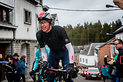 Vegard Stake Laegen (NOR) of IAM Cycling in the leading group at Côte de Saint-Roch with 128 km to go, the 102th edition of Liège-Bastogne-Liège race running 253 km from Liège to Liège, Belgium, 24 April 2016.<br /> Photo by Pim Nijland / PelotonPhotos.com<br /> <br /> All photos usage must carry mandatory copyright credit (© Peloton Photos | Pim Nijland)