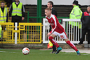 Swindon Town defender James Brophy during the Sky Bet League 1 match between Swindon Town and Coventry City at the County Ground, Swindon, England on 24 October 2015. Photo by Jemma Phillips.