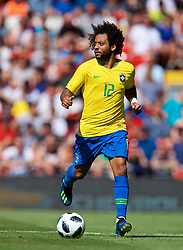 LIVERPOOL, ENGLAND - Sunday, June 3, 2018: Brazil's Marcelo Vieira da Silva Júnior during an international friendly between Brazil and Croatia at Anfield. (Pic by David Rawcliffe/Propaganda)
