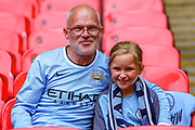 Manchester City fans during the FA Community Shield match between Manchester City and Liverpool at Wembley Stadium, London, England on 4 August 2019.
