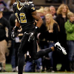 November 28, 2011; New Orleans, LA, USA; New Orleans Saints wide receiver Marques Colston (12) prior to kickoff of a game against the New York Giants at the Mercedes-Benz Superdome. Mandatory Credit: Derick E. Hingle-US PRESSWIRE