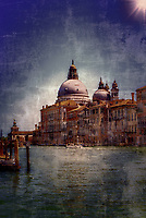 """The Basilica of Santa Maria della Salute Venice radiates in the distance on the Grand Canal- Ultramarine blue""…<br />