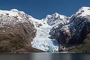Alsina glacier in the Chilean fjords.